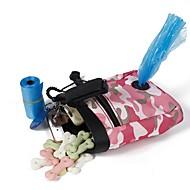 ネコ 犬 餌入れ/水入れ ペット用 ボウル&摂食 携帯用 折り畳み式 耐久 グリーン ピンク