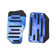 Silver 2PCS Auto Manual Pedal Pad