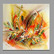 Ručno oslikana Cvjetni / Botanički Modern/Comtemporary Jedna ploha Platno Hang oslikana uljanim bojama For Početna Dekoracija