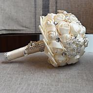 "Bouquets de Noiva Buquês Casamento Miçangas Renda 7.09""(Aprox.18cm)"