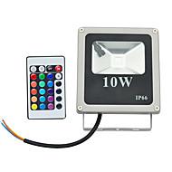 10W Focos de LED 1 LED de Alta Potência 800 lm RGB Controle Remoto AC 85-265 V