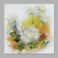 Maalattu Kukkakuvio/Kasvitiede Pysty,Abstrakti Moderni/nykyaikainen 1 paneeli Kanvas Hang-Painted öljymaalaus For Kodinsisustus