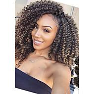 Pre-loop Virkkaa punokset Havana Virkkaus Kihara kuutio Twist Bouncy Curl Island Twist Jamaikan Bounce Hair Synteettinen tukkaBlack /