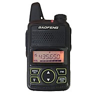 Baofeng bf t1 mini walkie talkie ultra tynde mikrokørsel 400-470mhz baofeng hotel civile walkie talkie 20 kanaler