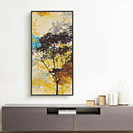 Abstracto Pinturas a Óleo Emolduradas Arte de Parede,Madeira Material com frame For Decoração para casa Arte Emoldurada Sala de Estar