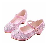 Para Meninas Rasos Conforto Inovador Sapatos para Daminhas de Honra Outono Inverno Micofibra Sintética PU Casual Social Pedrarias Presilha