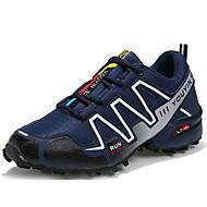 Masculino Tênis Conforto Solados com Luzes Tule Verão Outono Atlético Corrida Rasteiro Azul Escuro Cinzento Preto/Vermelho Rasteiro