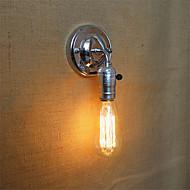 1 stk e27 edison vintage loft ganggang krom vegglampe uten lampe for 110 / 220v