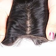 8 tuuman -20 tuuman silkki suorana 4x4 100% ihmisen hiukset silkki pohja pitsi edessä sulkeminen vauvan hiukset