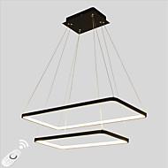 dimmable led 90w pendant könnyű téglalap keret modern / comtemporary fekete fehér funkció a nappali étkező távirányítóval