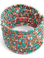 Women's Boho Chic Multi-row Beaded Bracelet(Assorted Colors) Jewelry Christmas Gifts