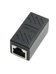 נקבת RJ45 CAT6 למתאם נקבת lan רשת Ethernet מחבר סיומת כבל עם מגן