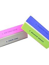 1pcs 4-Wege-Multi-Color-Nagelkunst Polierblock Schleif Dateien / entfernen Grate / glatte Nagel / Glanz Nagel
