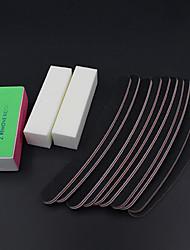 13pcs / set Dateien Pufferblock Nagelkunstsalon Maniküre pedicurehilfsmittel UV Gel-Set Schleifen-Kits