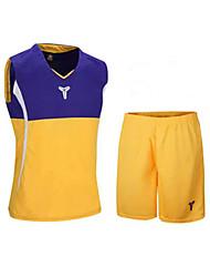 Homens Sem Mangas Basquete Conjuntos de Roupas/Ternos Shorts Baggy Respirável Confortável Preto Cinzento Amarelo Azul XL XXL XXXL