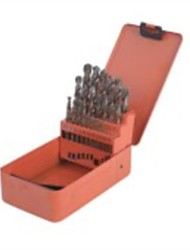 Perfuração de aço de torção de aço 25 peças de cobalto de aço inoxidável de alta velocidade conjunto de broca / 1 conjunto
