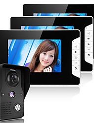 """Horizontální 7 """"dveřní telefonní dveřní zvonek pro domácí dveře Intercom systémová sada 1 kamera 2-monitorová noční vidění"""