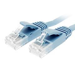 Cat 6 macho para macho cabo de rede Apartamento Tipo azul (10M)