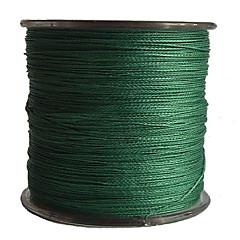 500M / 550 יארד PE  / Dyneema חוט קלוע חוט דיג ירוק 50LB / 45LB / 60LB 0.3,0.32,0.37 mm ל דיג בים / דייג במים מתוקים