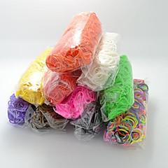DIY twistz silikoni Bandz kuminauhat rannerenkaita sateenkaaren värit kangaspuut tyyliin lasten kanssa 600pcs bändejä ja 24 s-leikkeet