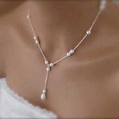 shixin® modni lijepa bijela biser ogrlica privjesak (1 kom)