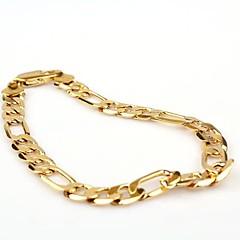 Pánské Řetězové & Ploché Náramky Klasický Módní bižuterie Zlaté Měď Pozlacené Šperky Šperky Pro Párty Denní Ležérní Vánoční dárky