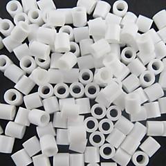 n 500kpl / pussi 5mm valkoinen Perler helmet sulake helmiä hama helmiä DIY palapelin Eva materiaali safty lapsille