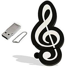 만화 음표 모델 4 기가 바이트 USB 2.0 플래시 펜 드라이브 메모리 스틱 pendrive