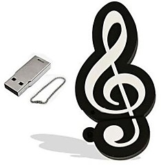 tegnefilm musikalsk notat modell 4GB USB 2.0 flash-minnepinne minnepinne pendrive