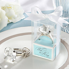 """""""With This Ring"""" Engagement Ring Keychain in Blue Gift Box"""