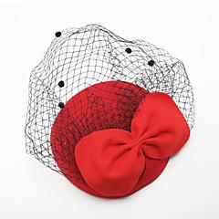 נשים נערת פרחים טול קטיפה כיסוי ראש-חתונה אירוע מיוחד Birdcage Veils חלק 1