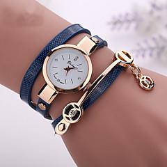Mulheres Relógio de Moda Bracele Relógio Relógio Casual imitação de diamante Relógio Casual Quartzo PU Banda BoêmioPreta Branco Azul