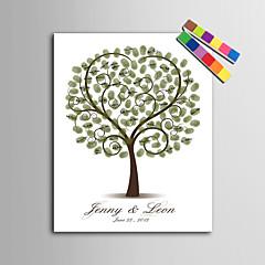 הדפסי דואר home® אישית ציור טביעת אצבע קנבס - עץ אהבה (כולל 12 fcolors דיו)