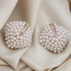 Femme Boucles d'oreille goujon Poignets oreille Bijoux de Luxe bijoux de fantaisie Perle Cristal Imitation de perle Plaqué or Imitation
