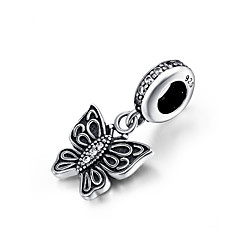 Sterling Silver Bead  S925 EIFFEL TOWER Silver Dangle  for European Charm Silver Bracelets