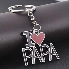 I LOVE PAPA Keychain for Gift