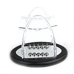 Upgrade Wiege Balance Kugeln Wissenschaft Pendel Desktop-Spielzeug der transparenten Reflexionsspiegel Newton