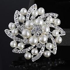 Feminino Pérola Imitação de Pérola Prata Chapeada imitação de diamante Liga Moda Jóias Casamento Festa Casual