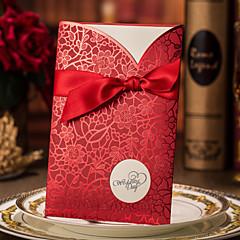 Embrulhado e de Bolso Convites de casamento 50-Cartões de convite Convites para Festas de Noivado Estilo Moderno Papel Cartão