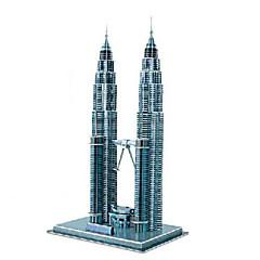 Palapelit 3D palapeli Rakennuspalikoita DIY lelut kuuluisat rakennukset Paperi Ruskea  Rakennuslelu
