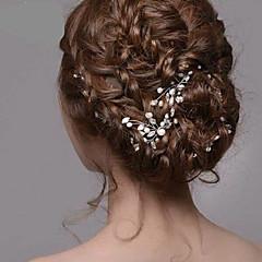 naisten hopea helmi strassi pinnit hiukset korut hääjuhlissa