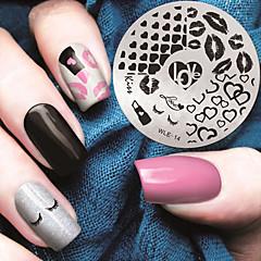 2016 najnoviju verziju modni uzorak nail art štancanje slika predložak pločice