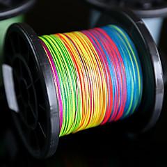 500M / 550 Yards Linha Traçada PE / Dyneema Others / Multicolorido120lb / 100LB / 80LB / 60LB / 50LB / 40LB / 30LB / 20LB / 15LB / 10LB /