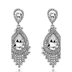 Pendentif d'oreille en forme de lustre Boucle Zircon / Alliage Cristal Femme