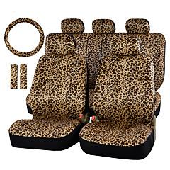 tampa do assento de carro leopardo impressão de luxo autoyouth e 15 de volante protetor de assento de carro universal