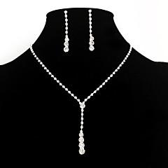 Žene Komplet nakita Viseće naušnice Ogrlice s privjeskom Elegantno kostim nakit Moda Europska Simple Style Vjenčan Umjetno drago kamenje