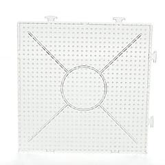 1kpl malli selkeä yleinen yhdistettävissä suuri pegboard 15 * 15cm neliö 5mm Hama helmet Perler helmet sulake helmet