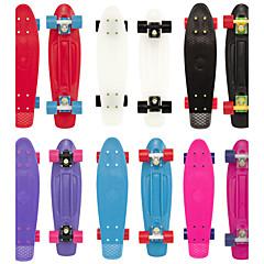 22 Zoll Cruisers Skateboard Standard-Skateboards PP (Polypropylen) Schwarz Purpur Rot Blau Rosa