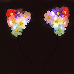 feber lette opp katten ører blomst hodebånd førte daisy pannebånd halloween giftchristmas gave parti gaveide
