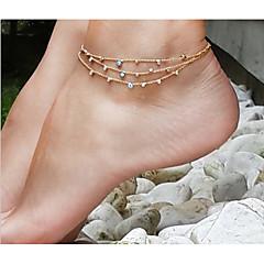 נשים תכשיט לקרסול/צמידים סגסוגת דו צדדי ארופאי עבודת יד תכשיטים תכשיטים עבור יומי קזו'אל חוף